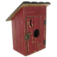 Red & Black Birdhouse Outhouse | Shop Hobby Lobby