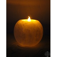 Selenite Tea-Light Round