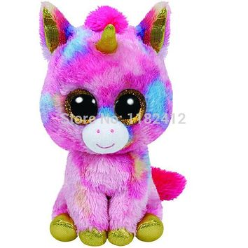 Beanie Fantasia Unicorn Plush Animals Toy 6'' 15CM Cute Big Eyes Stuffed Animals Unicornio Soft Toys for Kids Gifts