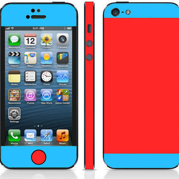 iPhone 5 Red & Purple Duo Tones Decal Wrap Skins