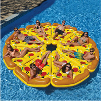 Swimming Inflatable Mattress Giant Pizza Slice Floating Bed Raft Water Pool Float Fun Toys For Summer Party Swimming Ring