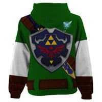 Full Print Link Costume Womens Hoodie XS-3XL from Much Needed Merch