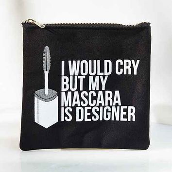Breakups To Makeup Mascara Canvas Pouch