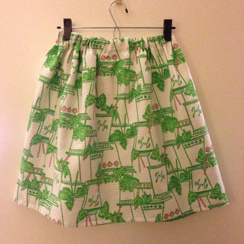 Limited Restock Lilly Pulitzer Just Add Mint Julip Cissy Skirt Preppy Sorority