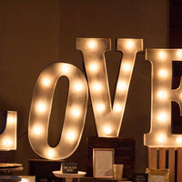 """24"""" Inch Love Wood Letters Wedding Decor Marquee Letters"""