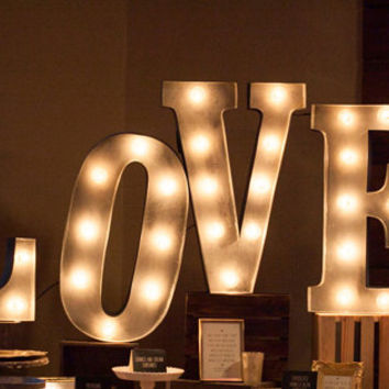 "24"" Inch Love Wood Letters Wedding Decor Marquee Letters"