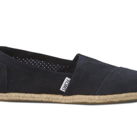 NAVY PERFORATED SUEDE WOMEN'S CLASSICS
