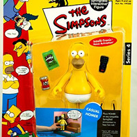 The Simpsons Casual Homer Action Figure Playmates Toys NIB Voice Activation