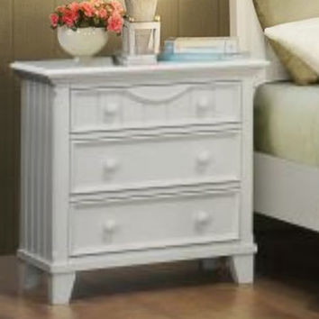 Homelegance Alyssa 3 Drawer Nightstand in White