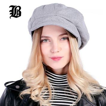 PEAPGQ6 Super warm High Quality Fashion Artist Wool Women Beret Hat For Women Cap Female