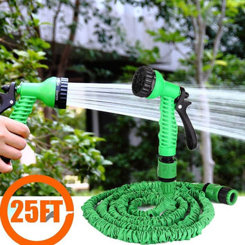 Home&Garden Functional Tool 25FT Expandable Garden Hose Water Pipe + 7 Sparying Water Modes Spray Gun = 1841468676