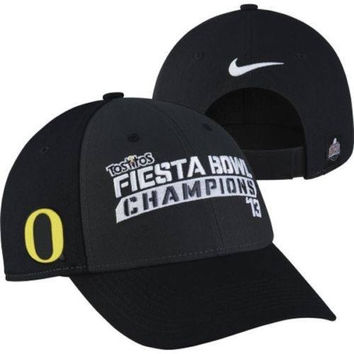 Oregon Ducks Football 2013 Fiesta Bowl Champions hat Nike new with stickers OU