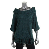 NY Collection Womens Knit Marled Pullover Sweater
