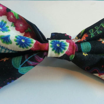 Dapper Doggie Bow Tie, Sugar Skulls