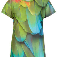 Parrot Feather Tee By Tee and Cake - Sale  - Sale & Offers