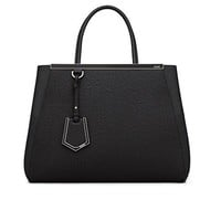 Fendi Women Handbag Regular 2Jours Black Elite Calfskin