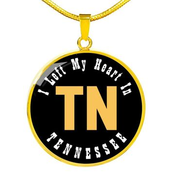 Heart In Tennessee - 18k Gold Finished Luxury Necklace