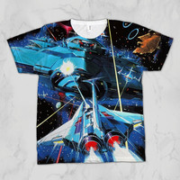Gradius Vic Viper Unisex Video Game Sublimation T-shirt