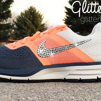 Women s Nike Air Pegasus 30 Running Shoes By Glitter Kicks - Hand  Customized With Swar 487a33f47582