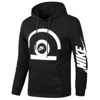 NIKE autumn and winter new hooded loose men's casual sports pullover sweater Black