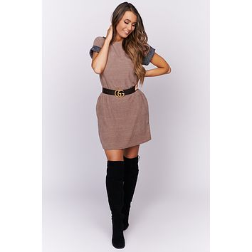 From The Start Chenille Dress (Mocha)
