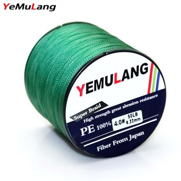 YeMuLang  500M 4 Stands Super Strong PE Braided Wires Multifilament Fishing Line 18LB/22LB/28LB/40LB/50LB/60LB/70LB For Fishing