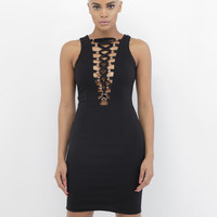 FINGERS CROSSED LACE UP DRESS