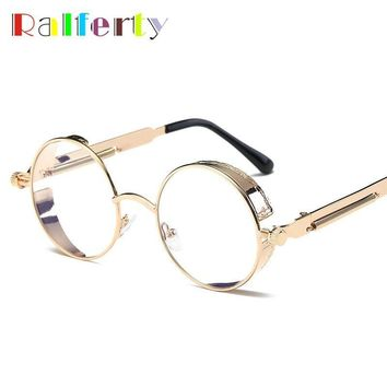 Ralferty Glasses Transparent Clear Steampunk Eyeglass Women Frame Men Vintage