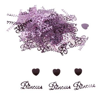 1500pcs Princess Heart Shape Confetti Table Birthday PVC Pink Party Decor Happy Birthday Party Throwing Props Table Confetti