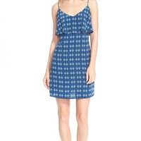 Women's Joie 'Parthena' Print Ruffle Silk Shift Dress,