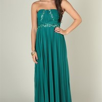 strapless sweetheart dress with ruched chunky stone waist trim