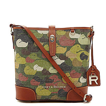 Dooney & Bourke Robertson Collection Camo-Print Cross-Body Bucket Bag
