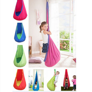 1 Pc Baby Swing Children Inflatable Hammock Kids Swing Chair Indoor Outdoor Hanging Chair Child Swing Seat H1339