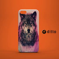 PINK HIPSTER WOLF Design Custom Case by ditto! for iPhone 6 6 Plus iPhone 5 5s 5c iPhone 4 4s Samsung Galaxy s3 s4 & s5 and Note 2 3 4