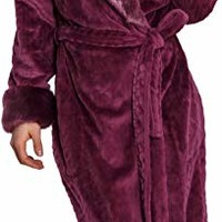 Cozy & Curious Women's Long Faux Mink Fur Robe
