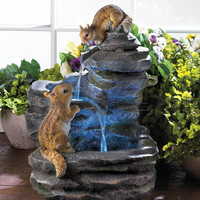 CHARMING CHIPMUNKS OUTDOOR FOUNTAIN
