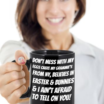 Grandma Mug Coffee Easter Holiday Gift Mugs Coffee Funny Sayings Cup For New York Grandparents Easter Bunny Chocolate Jar From Grandkids New York