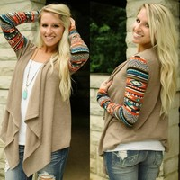 Tribal Quest Cardigan - Piace Boutique