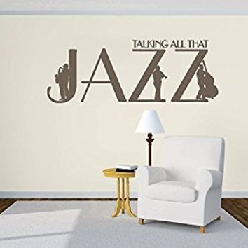 Wall Decal Vinyl Sticker Decals Art Decor Design Sign Quote Jazz Trumpet Jazzman Instrument Music Live Bedroom Modern Dorm Fashion (r581)