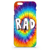 Rad Tie Dye Iphone 6 case, Iphone 6 Case Plastic Hard White Phone Cover For Iphone 6 Case- Emerishop (AH516)