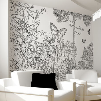 Vinyl Wall Decal Sticker Butterfly Forest #OS_AA1071