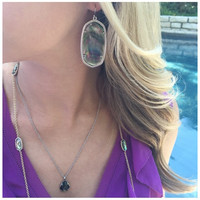 DANIELLE SILVER EARRINGS IN BLACK PEARL by Kendra Scott