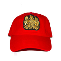 Vintage Culture Coat Of Arms Dad Cap in Red