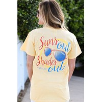 Southern Darlin Suns Out Shade Out Sunglasses Summer Bright Girlie T-Shirt