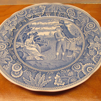 VINTAGE SPODE BLUE ROOM COLLECTION DECORATIVE PLATE # 3427-AO