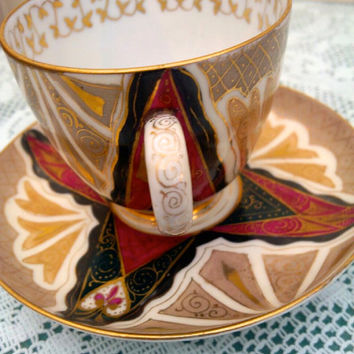 Austria 'Alhambra' Cup and Saucer - Antique 1910 - 1920