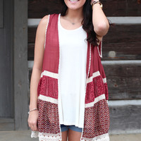 Leap of Faith Vest {Rust}