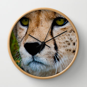 SPOT THE CHEETAH Wall Clock by catspaws