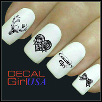 Nail Art Decals 32 Country Girl Nail Decals
