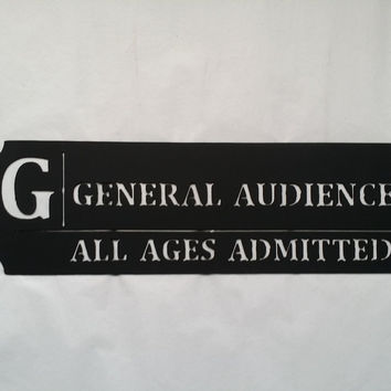 General Audience Movie Ticket Home Movie Theater Decor Metal Wall Art